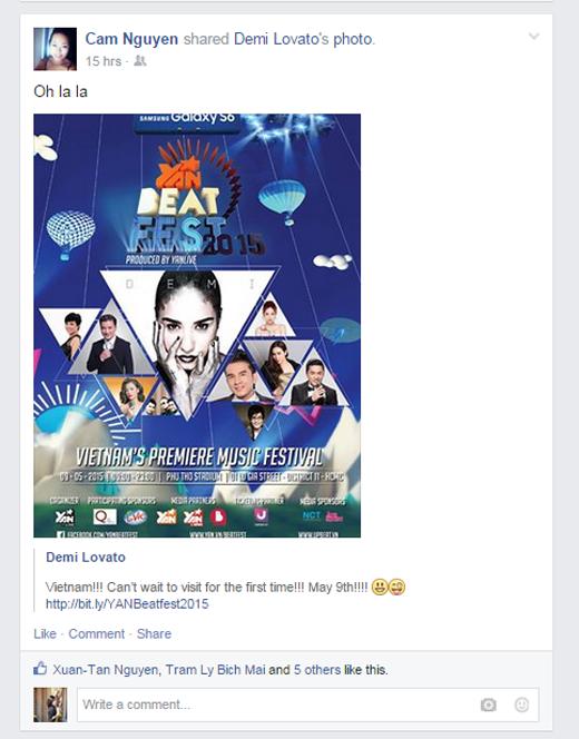 Demi Lovato gửi lời chào Việt Nam khiến fan quốc tế ghen tị