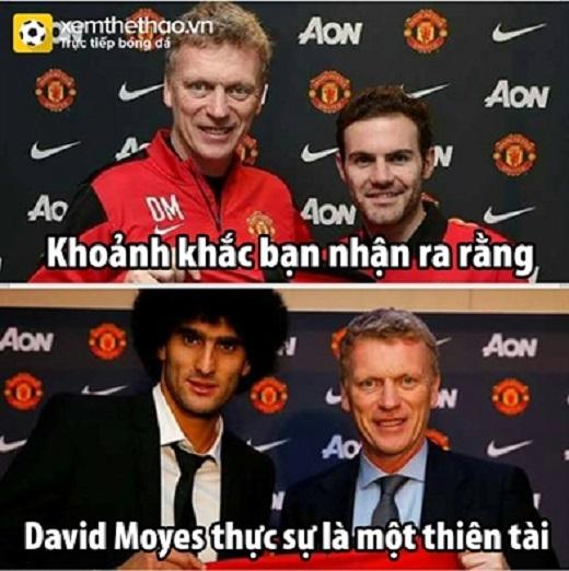 Man United thắng là nhờ những bản hợp đồng mà Moyes mang về Old Trafford