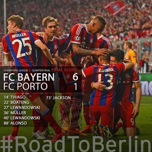 Barca cùng Bayern dắt tay nhau vào Bán kết dễ dàng