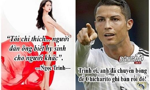 Vì Ngọc Trinh, Ronaldo chấp nhận chuyền bóng để Chicharito ghi bàn.