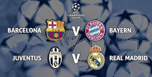 Kết quả bốc thăm bán kết Champions League: Những cặp đấu đầy duyên nợ