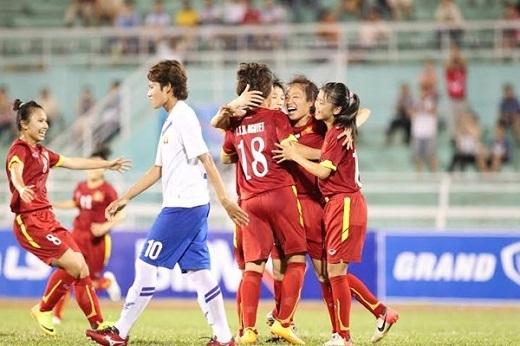 Tuyển nữ Việt Nam hạ Myanmar 3-2