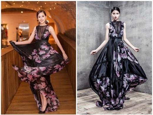 Mai Phương Thúy diện trang phục của NTK Adrian Anh Tuấn, nổi bật tại buổi họp báo chương trình The Voice (5/5). Thiết kế in hoa được khen ngợi là phù hợp vóc dáng mảnh mai, cao ráo của Hoa hậu Việt Nam 2006. Bộ cánh được người mẫu Chà Mi diện trước đó không lâu khi thực hiện bộ ảnh mới.