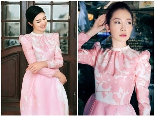 Hoa hậu Ngọc Hân và diễn viên múa Linh Nga cùng yêu thích thiết kế mùa hè của Phương My. Cả hai cùng chọn bộ đầm giống như đúc khi thực hiện bộ ảnh thời trang mới. Song vẻ đẹp kiều diễm của chim công làng múa được cho là nổi bật hơn so với hình ảnh nhẹ nhàng của Hoa hậu Việt Nam 2010.