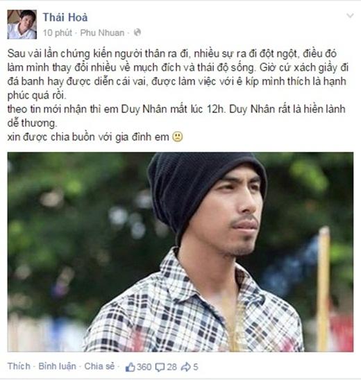 Sao Việt xót xa, thương tiếc người mẫu Duy Nhân