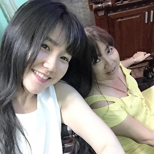 Hot girl Sài thành Kiều Trinh và mẹ