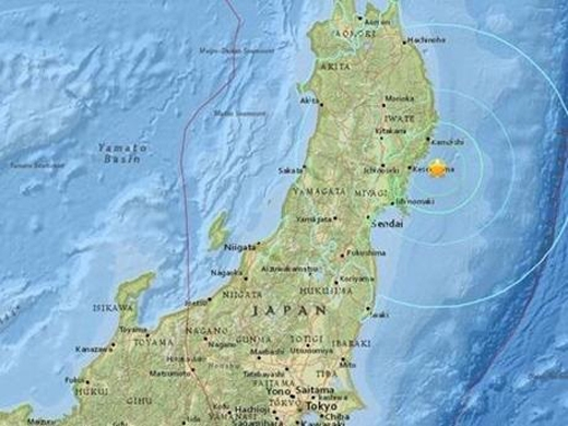 Trận động đất mới xảy ra vào ngày hôm nay tại Nhật Bản