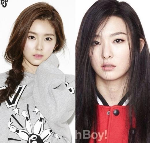 """Trưởng nhóm Red Velvet, Irene với vẻ ngoài trong sáng và thánh thiện, xứng đáng vị trí """"gương mặt đại diện"""". Gương mặt sắc sảo và có phần """"đáng sợ"""" của Seulgi thu hút các fan yêu thích vẻ đẹp cá tính, mạnh mẽ."""