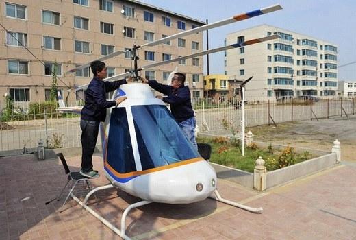 Còn đây là chiếc trực thăng của một người thợ rèn có tên Tian Shengying.