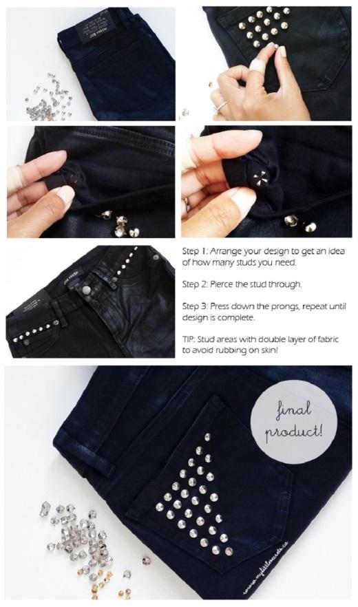 """8 ý tưởng """"hô biến"""" quần jeans cũ thành mới cực sáng tạo"""