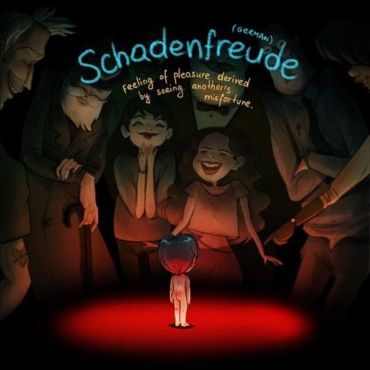 Có bao giờ bạn cảm thấy vui vẻ trước những những nỗi bất hạnh của người khác? Cảm giác tội lỗi này trong tiếng Đức được gọi làSchadenfreude.