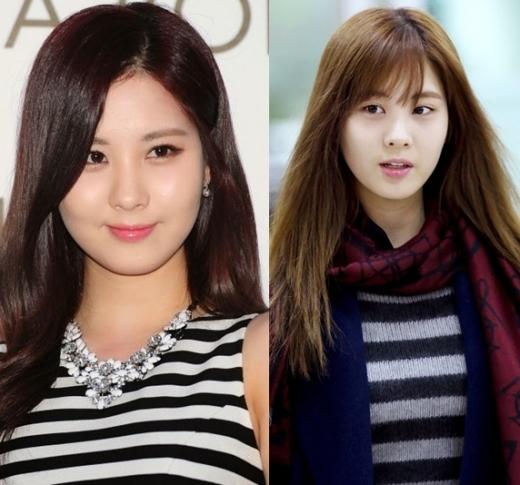 Bỏ mặc hình tượng nghiêm túc thường thấy, em út Seohyun của SNSD dường như trở lại đúng với số tuổi của mình với mái ngang trẻ trung, cá tính.