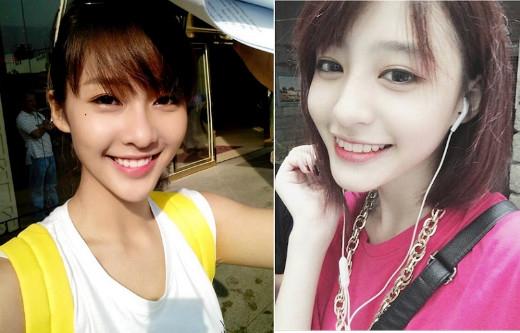 Hot girl Khả Ngân và Minh Ngọc có nụ cười và chiếc cằm V-line giống nhau như tạc.