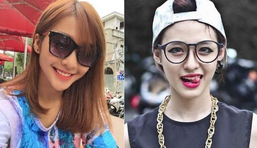 …thậm chí nét mặt biểu cảm cũng giống nhau dù Khả Ngân và Minh Ngọc đang khoác trên người hai phong cách thời trang khác nhau.