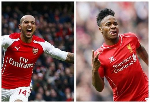 Theo Walcott và Raheem Sterling: Với những động thái thời gian gần đây, khả năng Liverpool không giữ được Sterling là rất lớn. Có lẽ Walcott sẽ là một sự thay thế rất đáng để Liverpool xem xét vào thời điểm này.