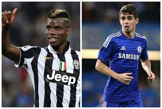 Paul Pogba và Oscar: Với những lời đề nghị lên tới 60, 80 triệu euro,… có lẽ Juventus sẽ cân nhắc để Pogba ra đi trong mùa Hè này. Đổi lại người mà họ mang về sẽ là một Oscar với giá chỉ bằng 1/3, nhưng tài năng, đặc biệt là khả năng phát động tấn công là không hề kém cạnh.