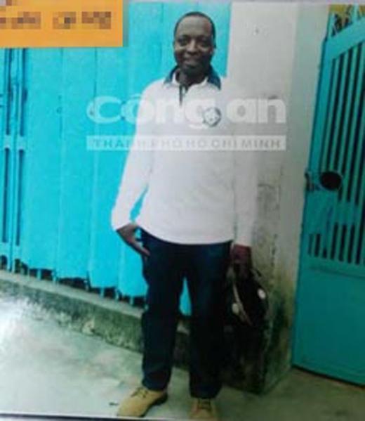 Ông Afolayan Caleb - người mà bà Ngọt khai là chồng mình, đã dùng hộ chiếu giả vào Việt Nam