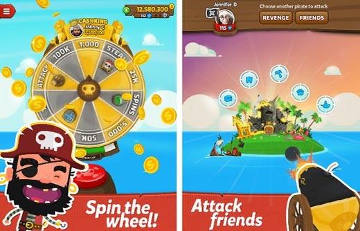 Giao diện của trò chơi Pirate Kings.
