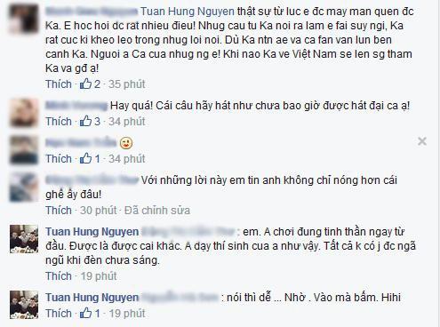 Những bình luận của nhiều người sau những dòng chia sẻ của Tuấn Hưng. - Tin sao Viet - Tin tuc sao Viet - Scandal sao Viet - Tin tuc cua Sao - Tin cua Sao