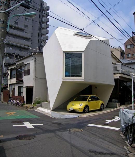 Ngôi nhà hình đa giác ở trung tâm thủ đô Tokyo, Nhật Bản.