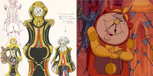 Chú đồng hồ Cogsworth trong bộ phim Beauty and The Beast (Giai nhân và quái vật) trông cao hơn bản hoàn chỉnh rất nhiều
