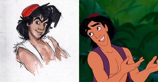 Aladdin trông hiền và tử tế hơn phiên bản sơ khai của mình
