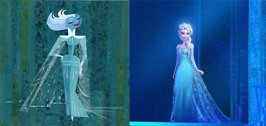 Rất nhiều người đã phải há hốc mồm khi nhìn thấy những tạo hình đầu tiên của Elsa