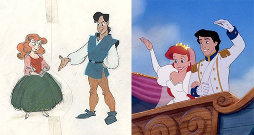 Nàng tiên cá Ariel và hoàng tử Eric không xinh đẹp bằng phiên bản hoàn chỉnh