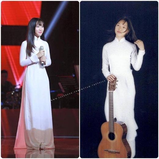 Hình ảnh của Bảo Uyên được ví giống như Mỹ Tâm cách đây 17 năm khi cô tham dự Giọng ca vàng Mực Tím 1998