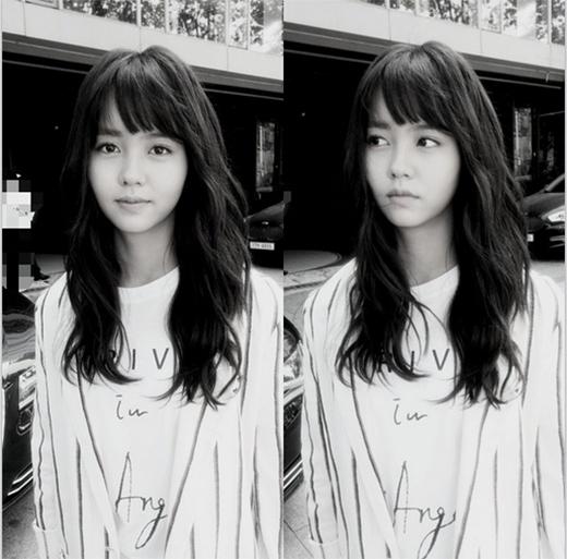 Sao nhí Kim So Hyun khoe ảnh cực dễ thương và thích thú với thời tiết đẹp.