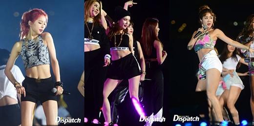 Khi nữ thần tượng Kpop đọ cơ bụng rắn chắc trên sân khấu