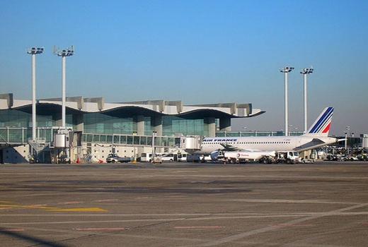 Sân bay Bordeaux (Pháp), nơi người đàn ông đã dọa có bom.
