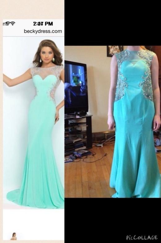 Hãy tự an ủi rằng ít nhất cái váy cũng có màu giống trong quảng cáo.