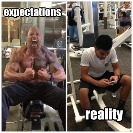 Điều bạn thực sự làm ở phòng tập gym!