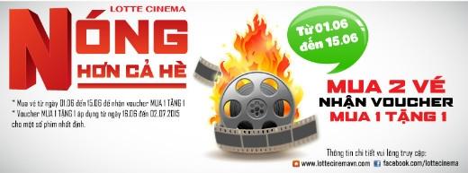Chỉ từ 30.000 đồng, bạn tha hồ xem phim hè tại Lotte Cinema