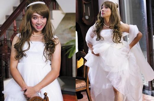 Trần Thành hóa thân thành nàng tiểu thư mặc váy cưới đẹp lộng lẫy. - Tin sao Viet - Tin tuc sao Viet - Scandal sao Viet - Tin tuc cua Sao - Tin cua Sao