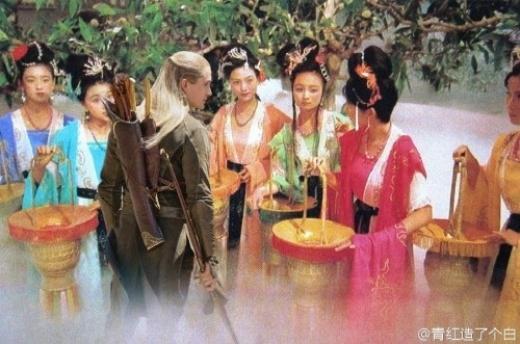 Legolas được dự lễ tiệc bàn đào.