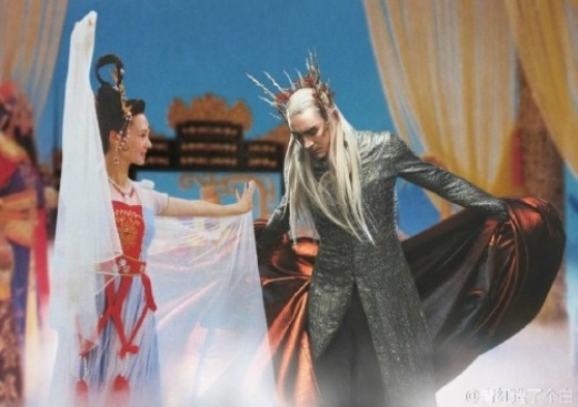 Thranduil, vua của xứ Elf khiêu vũ bên Hằng Nga Tiên tử.