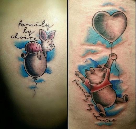 Hai bạn cũng có thể chọn chú gấu Pooh dễ thương và Piglet, hai nhân vật hoạt hình đáng yêu với tình bạn khăng khít và gắn bó như người thân.