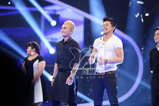 Ngọc ViệtvàTrọng Hiếulà 2 cái tên đầu tiên nhận được số lượt bình chọn cao nhất để bước vào top an toàn.