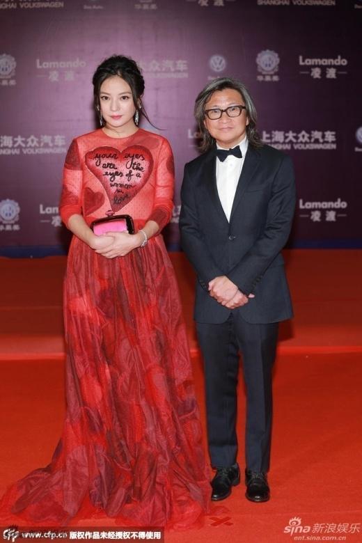 Triệu Vy được đạo diễn Trần Khả Tân tháp tùng, đẹp long lanh trước ống kính