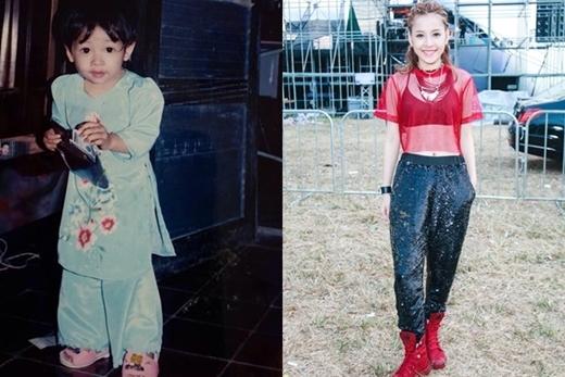 Hình ảnh của cô nàngChi Pu khi còn 3 - 4 tuổi.