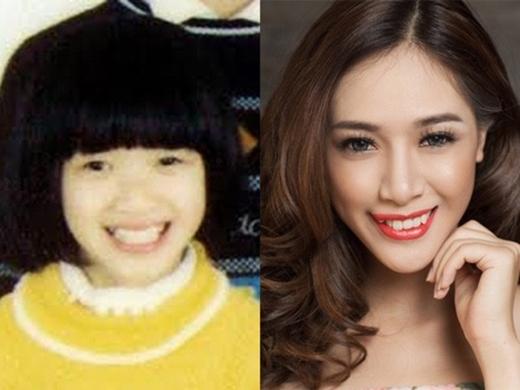 Hà Min từ bé đã sở hữu nụ cười rạng rỡ và gương mặt khả ái.