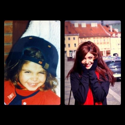 Cô nàng Andrea từ bé đã sở hữu nét xinh xắn và đáng yêu.