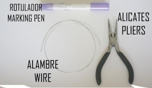 Bạn cần có: Một đoạn dây kẽm, một bút để đánh dấu và một cây kềm.