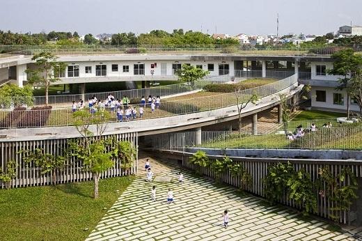 Với kiến trúc xanh và độc đáo, nhà trẻ Farming Kindergarten là một mô hình kiến trúc nên được áp dụng rộng rãi.