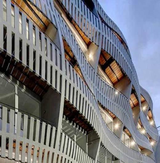 Đừng dụi mắt nữa! Tòa nhà được thiết kế với bề mặt gợn sóng có thực ở Mexico.