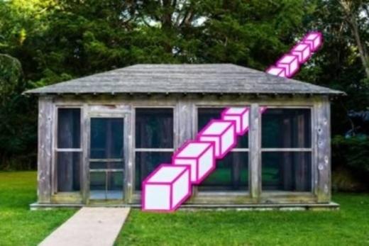 Một ngôi nhà có hình vẽ 3D ấn tượng