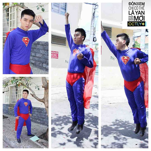 Dễ thương trong trang phục siêu nhân