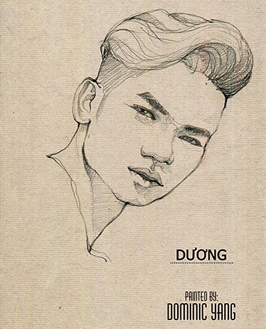 Bức vẽ tự họa ấn tượng của Yang.